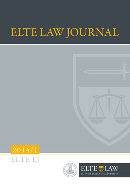 ELTE Law Journal 2014/1