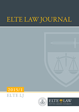 ELTE Law Journal 2015/1