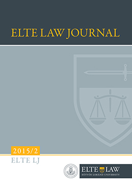 ELTE Law Journal 2015/2