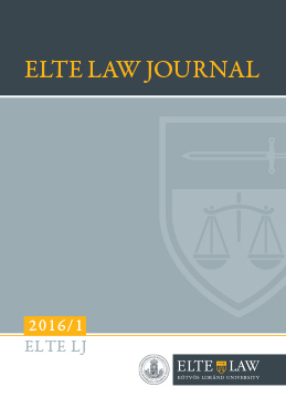 ELTE Law Journal 2016/1