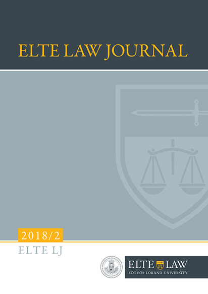ELTE Law Journal 2018/2